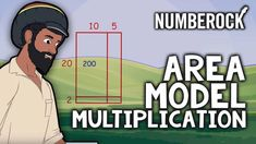 The Area Model of Multiplication song & lesson teaches how to do 2 digit by 2 digit multiplication w/ the box method & partial products. For grades 4 and Box Method Multiplication, Partial Product Multiplication, Multiplication Songs, Math Songs, Math Games, Math Fractions, Math Strategies, Math Resources, Family Math Night