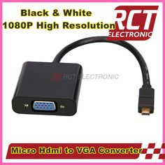 Micro HDMI to VGA Female converter cable cord 1080P with built-in chipset for Video Device free shipping