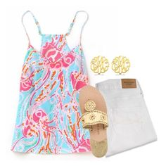 """""""{lilly}"""" by preppy-southern-girl-1-2-3 ❤ liked on Polyvore featuring Abercrombie & Fitch, Allurez and Jack Rogers"""