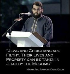 Islam, not a religion of peace.