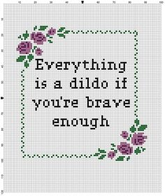 I pinned this on facebook forgetting some of the more mature people I know would see it. Don't really care and I'm sure they appreciated the needlework?