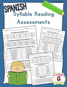 This product contains 12 syllable reading assessments. Each quiz includes a section for reading isolated syllables, a section for reading words made up of the target syllables, and a final part that includes sentence reading with the target syllables. Bilingual Classroom, Bilingual Education, Reading Assessment, Reading Intervention, Reading Words, Guided Reading, Spanish Lessons, Learning Spanish, Kindergarten Morning Work
