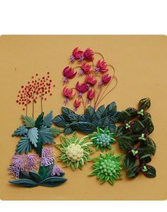 Pretty Quilled Flowers and Succulents