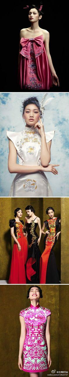 beautiful Chinese style dresses  Gold Dress #2dayslook #jamesfaith712 #GoldDress  www.2dayslook.com