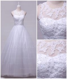This princess look tulle deb dress features an illusion sweetheart neckline with delicate lace appliques decorated through the bodice. Vintage Inspired Wedding Dresses, Wedding Dresses With Flowers, Bridal Dresses, Wedding Gowns, Debutante Dresses, Deb Dresses, Romantic Lace, Illusion Neckline, Princess Style