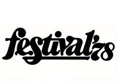 festivals vintage lettering / typography