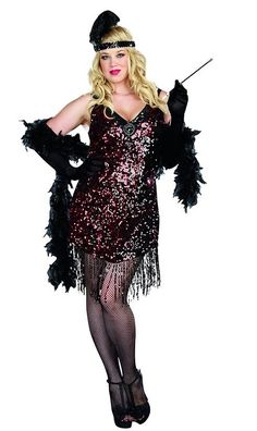 Dreamgirl Women's Plus-Size Dames Like Us Flapper Costume