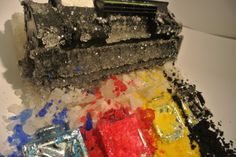 Crystallized printer and ink cartridges. Printer Ink Cartridges, Look What I Made, Toner Cartridge, Free Shipping, Crystals, Crystal, Crystals Minerals