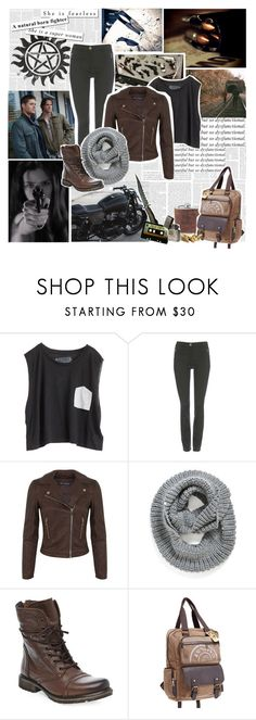 """Supernatural- hunter"" by violetrose74 ❤ liked on Polyvore featuring Blondes Make Better T-Shirts, Wallis, Miss Selfridge, Element, Steve Madden, Ghibli and CÉLINE"