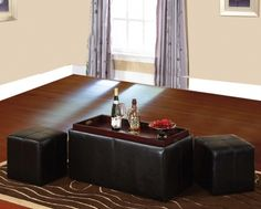 3-Piece Storage Ottoman Set - The Furniture Depot
