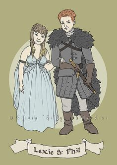 Game of Thrones custom couple family or 1 person portrait