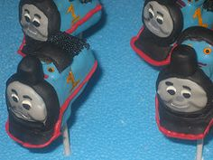 Thomas Tank Engine Train Cake Pops