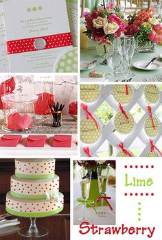 Lime and Strawberry Wedding by Tastefully Entertaining, via Flickr