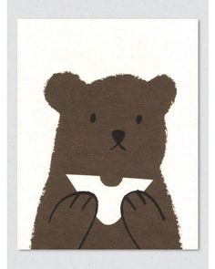 Butty Bear Greeting Card by Lisa Jones - Soma Gallery