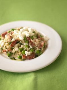 pea and goat's cheese risotto | Jamie Oliver | Food | Recipes (UK)