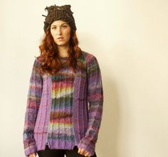 Handmade bright and colourful women sweater made from best quality natural sheep wool