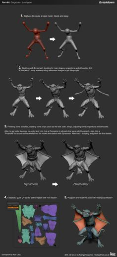 Gargoyles ★    CHARACTER DESIGN REFERENCES   キャラクターデザイン • Find more artworks at https://www.facebook.com/CharacterDesignReferences & http://www.pinterest.com/characterdesigh and learn how to draw: #3D #rigging #animation #topology #modeling    ★