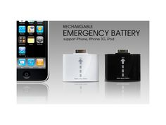 Wiederaufladbare Notfallbatterie / #iPhone4 #iPhone4s #charger Samsung, Iphone 4s, Ipod, Charger, Usb, Slipcovers, Ipods, Iphone 4