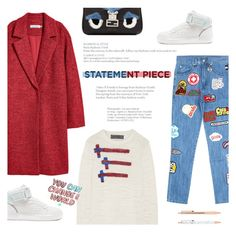 """""""Untitled #347"""" by riennise ❤ liked on Polyvore featuring The Elder Statesman, GCDS, Superdry, Fendi and statementcoats"""