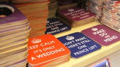 """Keep Calm, it's only a wedding"" Love it!"