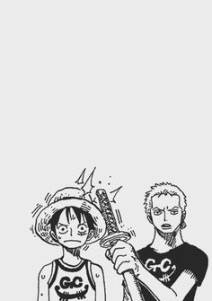 Zoro and Luffy