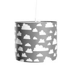 Farg Form . Drum Lamp Shade . Grey / White Moln Clouds