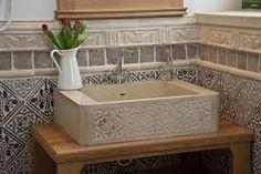 otti - Google-keresés Terrace Tiles, Garden Fountains, Wall Finishes, Vintage Designs, Sink, Wall Decor, Indoor, Bathroom, Home Decor