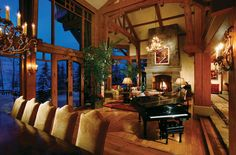 amazing interior of this craftsman home...love all of the windows and wood