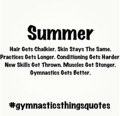 "I had one of my gymnasts ask me ""what do we do when gymnastics season is over?"" That's when the fun starts! All About Gymnastics, Sport Gymnastics, Olympic Gymnastics, Gymnastics Stuff, Gymnastics Funny, Gymnastics Crafts, Gymnastics Moves, Gymnastics Pictures, Artistic Gymnastics"