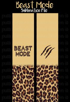 Beast Mode Sublimation Cheer Bow Strips Download by PuttaBowOnIt on Etsy