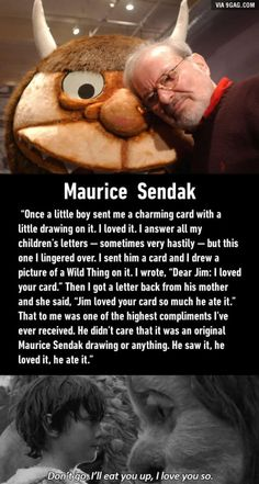 """Where the Wild Things Are"" Maurice Sendak's favorite compliment"