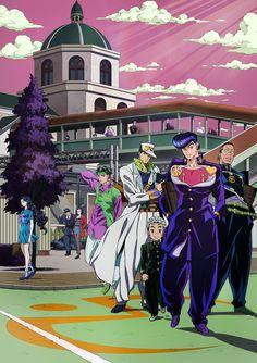 ジョジョの奇妙な冒険:アニメ第4部のキービジュアル第2弾公開 杜王町に数々のキャラが……