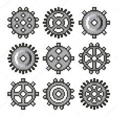 Картинки по запросу пиксельная шестеренка