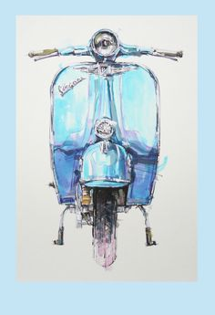 vespa - illustration More