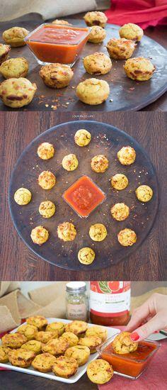 Grain-Free, Dairy-Free Mini Pizza Bites. Paleo-friendly, primal, gluten-free. #paleo #paleokids