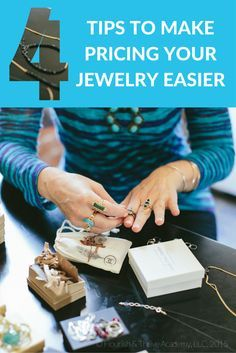 We have FOUR tips to make pricing your jewelry easier AND a FREE pricing cheatsheet for you!