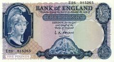 1950's Five Pound Note