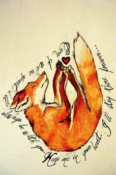 Art Fox Tattoo by ~TrixKibbles dream-tattoos Future Tattoos, Love Tattoos, Dream Tattoos, Hand Tattoos, Art Fox, Fuchs Tattoo, Skin Art, Tattoo Inspiration, Tattoo Designs