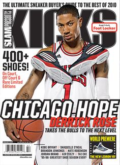 SLAM Presents KICKS 12: Chicago Bull Derrick Rose appeared on the cover of the 12th issue of KICKS Magazine (2009).