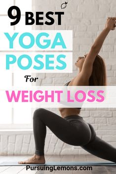 Yoga Poses: Finding ways to lose weight? Yoga is one of the best workouts for weight loss to burn fats and improve your metabolism. Here are 9 yoga poses to practice! Yoga For Weight Loss, Losing Weight Tips, Weight Loss For Women, Best Weight Loss, Weight Loss Journey, Weight Loss Tips, Lose Weight, Yoga Fitness, Kids Fitness