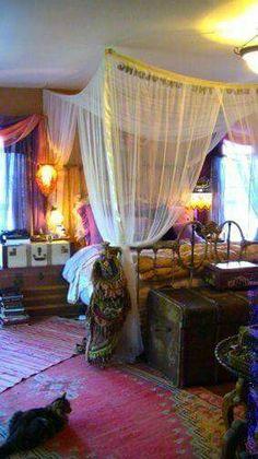 Purple Bohemian Bedroom purple, orange, green: bohemian bedroom | sweet dreams | pinterest