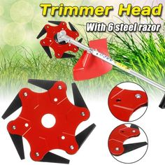 (Buy 2 Save off ) 6 Steel Razors Trimmer Head Steel Cutter, Thing 1, Gas And Electric, Tools For Sale, Goods And Services, Hedges, Make It Yourself, Holiday Decor, Teeth