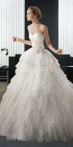 Stunning princess moment ~ Two by Rosa Clara 2015 Bridal Collection | bellethemagazine.com
