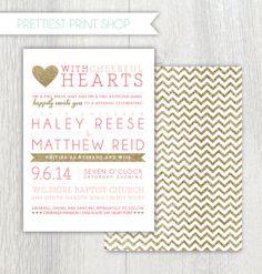 Printable wedding invitation  Happy Hearts  by PrettiestPrintShop, $35.00