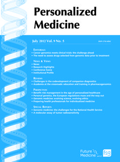 Personalized Medicine translates recent genomic, genetic and proteomic advances into the clinical context. The journal provides an integrated forum for all players involved – academic and clinical researchers, pharmaceutical companies, regulatory authorities, healthcare management organizations, patient organizations and others in the healthcare community.  #personalizedmedicine