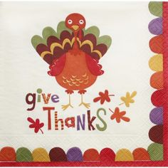 Perky Turkey Lunch Napkins $5.95 Paper Napkins, Paper Plates, Thanksgiving Parties, Give Thanks, Party Supplies, Harvest, Holiday, Christmas, Fall