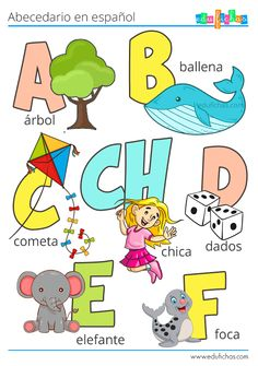 English Lessons For Kids, English Class, Learn English, Spanish Worksheets, Preschool Worksheets, Preschool Learning, Abc Phonics, Kids Education, Montessori