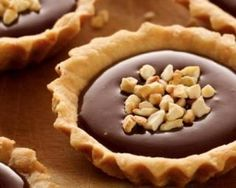 Tartelettes légères au Nutella© et cacahuètes