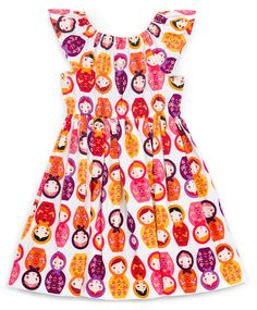 Matilda Dress by Violette Field Threads. Features Little Kukla by Suzy Ultman, shipping to stores June 2016.