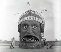 Big Chief Root Beer Stand at the Army Air Service's Pearson Field in Vancouver, Washington, in the 1920s.
